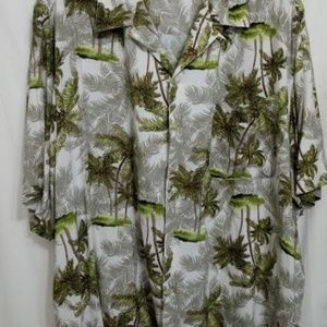 Puritan 2XL 50/52 Aloha Palm Trees Men Shirt